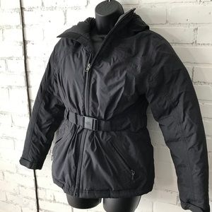 The North Face Black Puffer Hooded Down Coat Sz S